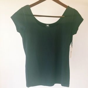 NWT Worth BACK TO FRONT SCOOP NECK TEE